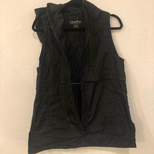 CALVIN KLEIN PERFORMANCE Black Hooded Vest sz-M
